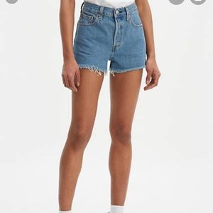Levi's 501 button fly cut off shorts